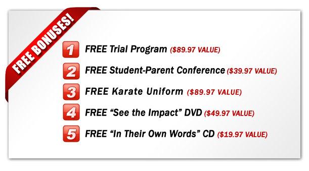 Free Martial Arts Bonuses